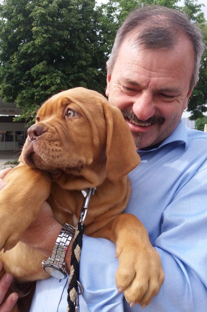Johann Gutschi mit Hund